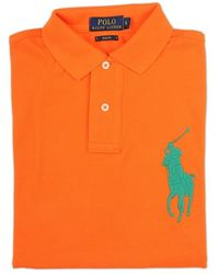 Ralph Lauren Blue Label Orange Contrast Details Polo Shirt - Lyst