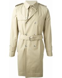 Moncler Gamme Bleu Belted Trench Coat - Lyst