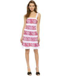 M Missoni Short Floral Dress - Red - Lyst