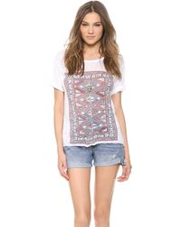 House of Harlow 1960 - Paisley Tee White with Red Rug - Lyst