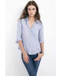 Velvet By Graham & Spencer Xena Chambray Button-Up Shirt - Lyst