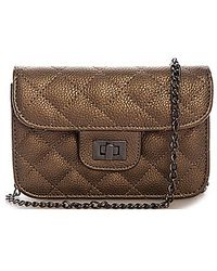 Bungalow 20 | Alex Quilted Mini Clutch In Pewter | Lyst