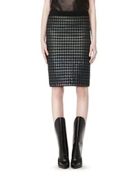 Alexander Wang Pencil Skirt with Thermo Inlay - Lyst
