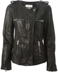 Etoile Isabel Marant Black Leather Jacket - Lyst