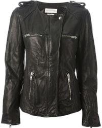 Etoile Isabel Marant Black Leather Jacket - Lyst