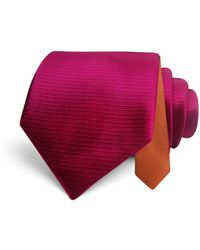 Happy Ties - Textured Solid Classic Tie - Lyst