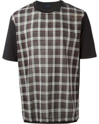 Lanvin Multicolor Checked T-Shirt - Lyst