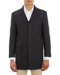 Brooklyn Tailors Gray Handmade Overcoat - Lyst