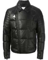 Moncler Black Quilted Coat - Lyst