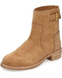 Tory Burch Selena Suede Ankle Boot - Lyst