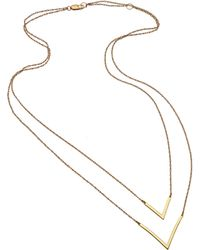 Joie - Jennifer Zeuner Tila Double V Necklace - Lyst