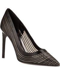 Diane von Furstenberg | Bridgette Pump Black Leather | Lyst