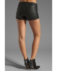 Bardot - Rider Vegan Leather Shorts - Lyst