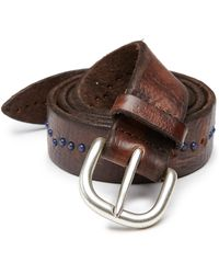 Orciani Studded Leather Belt - Lyst
