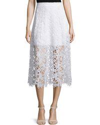 Karina Grimaldi - Tori A-line Lace Midi Skirt - Lyst