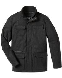 Calvin Klein Lightly Textured Wool Blend Utility Jacket - Lyst
