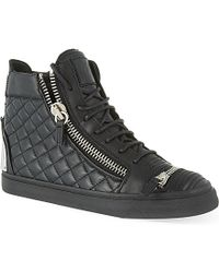 Giuseppe Zanotti Quilted Zip-up High-top Trainers - For Men - Lyst