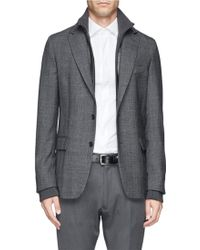 Façonnable - Wool Check Blazer - Lyst