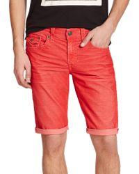 True Religion Ricky Denim Shorts red - Lyst