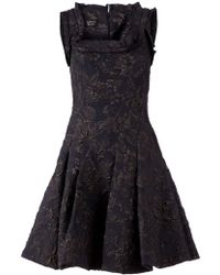 Lanvin Embroidered Floral Dress - Lyst