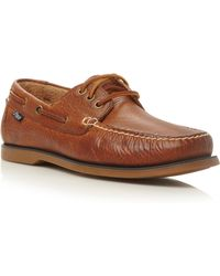 Polo Ralph Lauren Bienne Lace Up Tumbled Leather Boat Shoes - Lyst