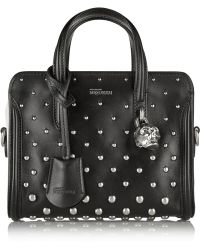 Alexander McQueen - Padlock Mini Studded Leather Shoulder Bag - Lyst