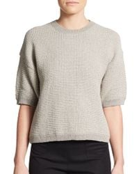 3.1 Phillip Lim Waffle-Stitched Dropped Shoulder Knit Pullover - Lyst