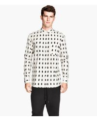 H&M Patterned Cotton Shirt - Lyst