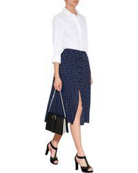 Michael Kors Dot Print Pleated Midi-Skirt - Lyst