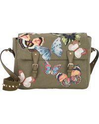 Valentino Rockstud Butterfly Messenger Bag - Lyst