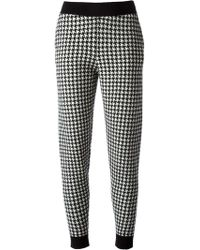 Stella McCartney Houndstooth Pattern Track Trousers - Lyst