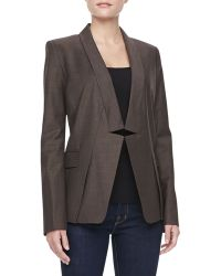 Halston Heritage Relaxed Notched Collar Blazer - Lyst