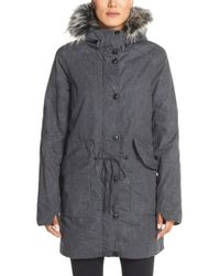 Bench - 'big Timer' Insulated Parka With Faux Fur Trim - Lyst