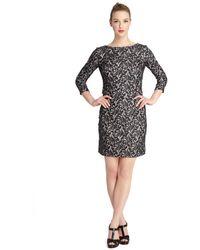 Tahari Tracey Floral Lace Sheath Dress - Lyst