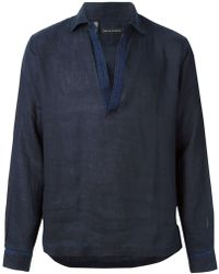 Ralph Lauren Embroidered Detail Shirt - Lyst
