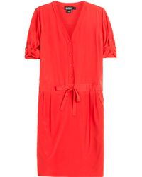 DKNY Relaxed Silk Shirt Dress - Lyst