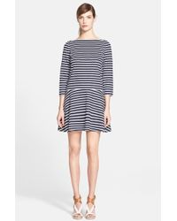 Tory Burch Stripe Drop Waist Dress - Lyst