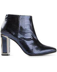 Kat Maconie Viola Lizard Textured Boots - Lyst