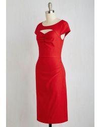 ModCloth | Dear Fiery Dress In Rouge | Lyst
