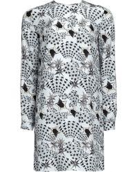 Matthew Williamson Mono-star Print Silk Shift Dress - Lyst