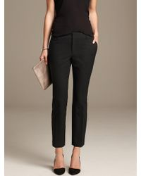 Banana Republic Hampton Fit Jacquard Crop Br Black - Lyst