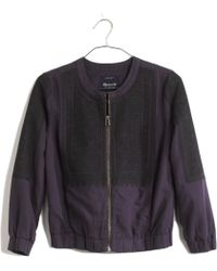 Madewell Blue Folkstitch Jacket - Lyst