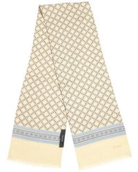 Gucci Yellow and Brown Diamante Wool Scarf - Lyst