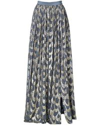 By Malene Birger Severaia Metallic Long Skirt - Lyst
