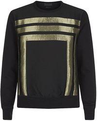 Alexander McQueen Gold Foil 3 Box Sweatshirt - Lyst