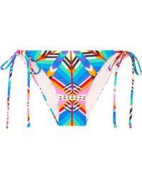 Mara Hoffman Kites Pink Tie Side Bikini Bottoms - Lyst