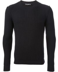 Dolce & Gabbana Cable Knit Sweater - Lyst