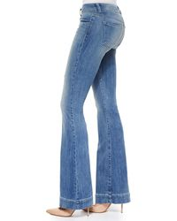 J Brand Love Story Faded Distressed Flare Jeans - Lyst