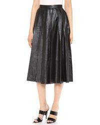 BLK DNM   Pleated Leather Skirt   Lyst