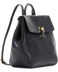 5bc8e5adce35 Sophie Hulme - Soft Flap Leather Backpack - Lyst